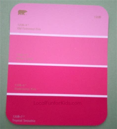 home depot paint pink easy kid s craft paint chip bookmarks local