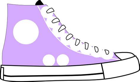 puple tennis shoe clip at clker vector clip