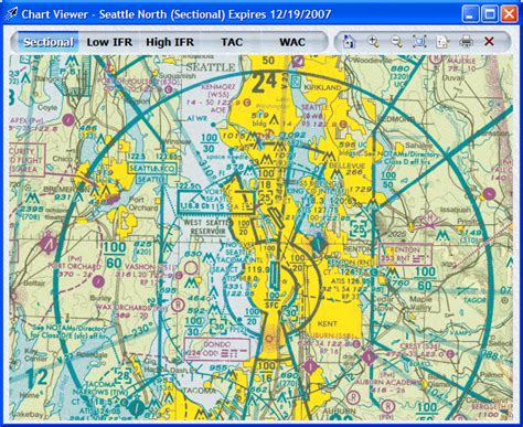 Seattle Sectional Chart by Seattle Avionics Screen
