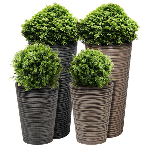Planters With Plants by Charles Bentley Garden Fibreclay Plant Pot Large
