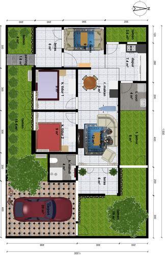 denah rumah minimalis  kamar tidur rumahku unik