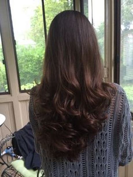 back of hairstyle cut with layers and ushape cut in back v shape hair cut in ponytail hairstylegalleries com