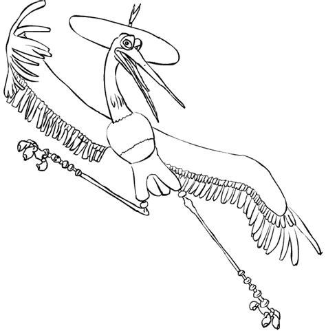 kung fu panda crane coloring coloring master crane picture