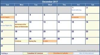 Calendar 2017 December With Holidays December 2017 Calendar With Holidays Weekly Calendar