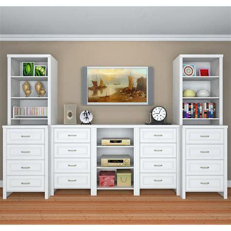 closetmaid closet kit closetmaid impressions 25 in white deluxe hutch closet