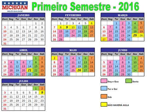 calendarios de pagos segundo semestre 2016 calendario semestre 2016 michigan valinhos volta 224 s