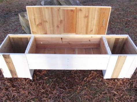 diy pallet bench with planters
