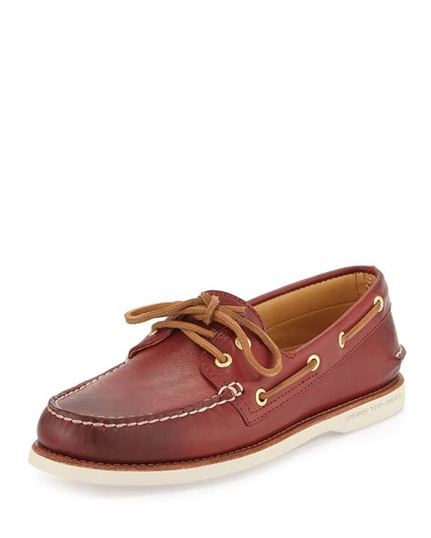 Original Bnwb Sperry Top Sider Goldcup Colored 2 Eye Tanlime sperry top sider gold cup authentic original boat shoe in brown for lyst