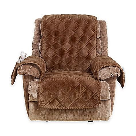 surefit recliner cover buy sure fit 174 wide wale corduroy recliner cover in brown