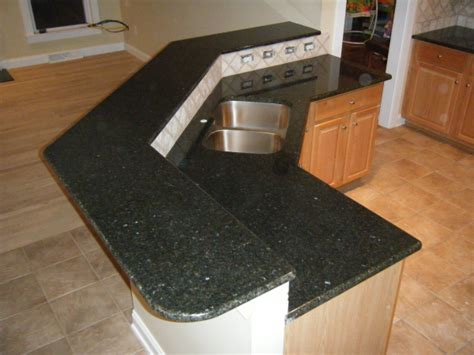 granite countertop bar tops island overhangs