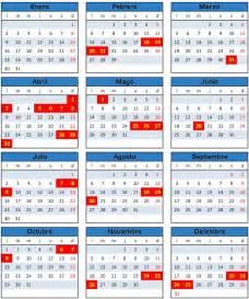 Calendario 2018 Ministerio Interior Sepa C 250 Ales Los Feriados 2014 Diariolaventana