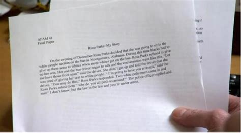Unc Athlete Rosa Parks Essay by The Unc Class Athlete Got An A For A One Paragraph Paper