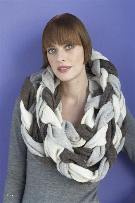 leo brand hand braided felted bristol braided scarf in lion brand fishermen s
