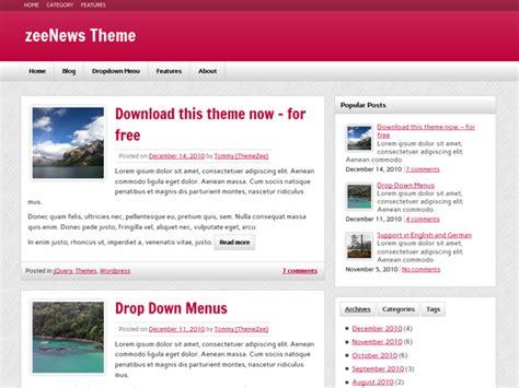 wordpress themes zee zeenews themezee