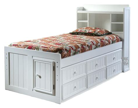 captains bed with storage and bookcase headboard bed with trundle and storage birch wood bookcase
