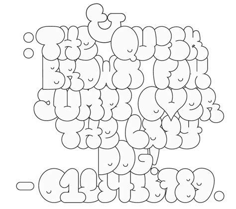 graffiti bubble letters font graffiti ideen