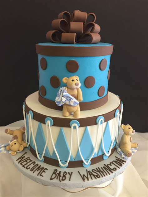 Teddy Baby Shower Cake Ideas by Magnificent Ideas Order Baby Shower Cake Baby Shower Cake