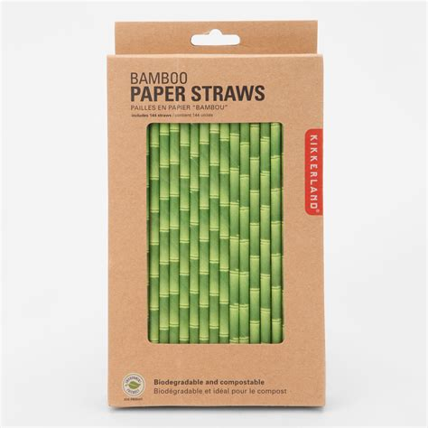 How To Make Paper Out Of Bamboo - kikkerland birch and bamboo paper straws the green