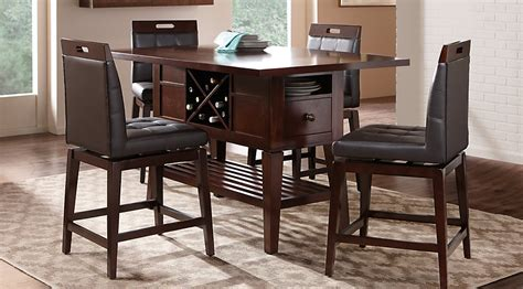 rooms to go counter height dining sets julian place chocolate 5 pc counter height dining room dining room sets wood
