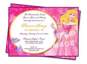 sle of princess birthday invitation