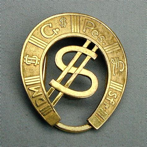 Gold Money Money Money Clip vintage rolled gold horseshoe money clip dollar sign from