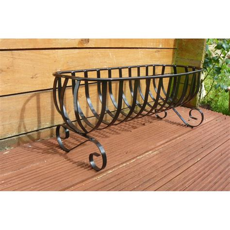flower planter 24in freestanding wrought iron