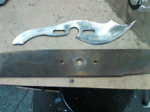 knife making pattern creating a knife from a lawnmower blade making tracing