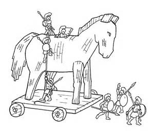 caballo troya colouring pages