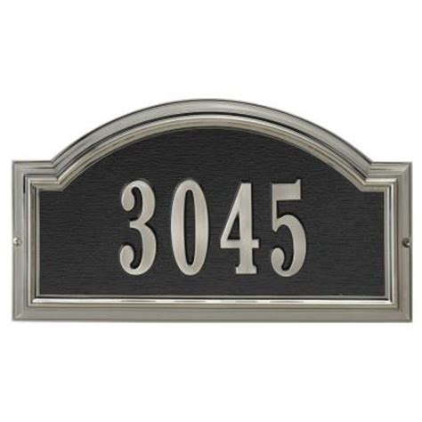 Metal Depot 4934 by Whitehall Products Brushed Nickel Arch Plaque 12798 The