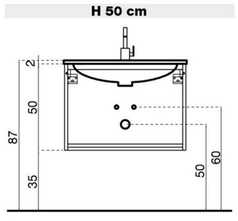 misure mobile bagno il progetto di flavia mobile bagno sospeso con doppio