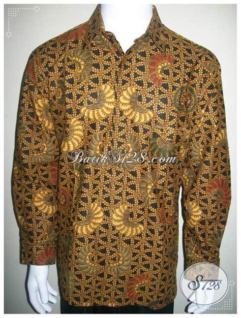 Koleksi Terbaru Kemeja Coklat Sw Kemeja Pria Katun Stretch 1 kemeja lengan panjang hem batik klasik modern warna