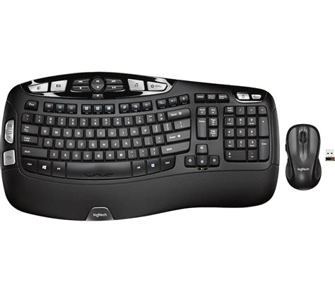 logitech comfort wave wireless combo mk550 compact keyboard mouse combo