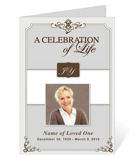 ordering a celebration of card template 218 best images about creative memorials with funeral