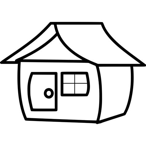 clipart casa house line cliparts co
