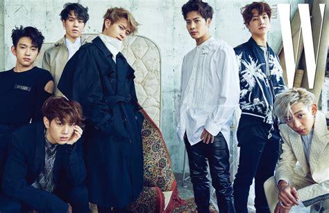 got7 group photo photo got7 on w korea 2017 april issue kpopmap