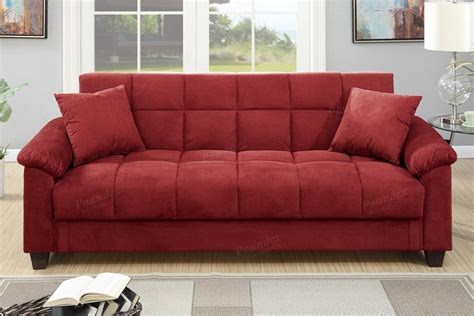 sofa beds red red fabric sofa bed steal a sofa furniture outlet los