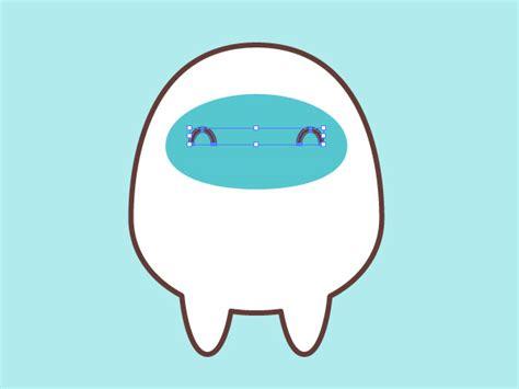 illustrator tutorial yeti creating a simple kawaii yeti with basic shapes in adobe