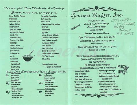 Gourmet Buffet Menu Modesto Dineries Buffet Menu Items