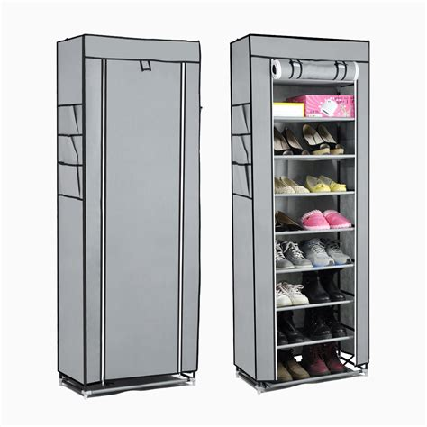 canvas shoe storage 10tier canvas fabric shoe rack shoes organiser storage