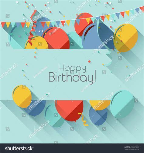 happy birthday flat design modern birthday background in flat design style stock