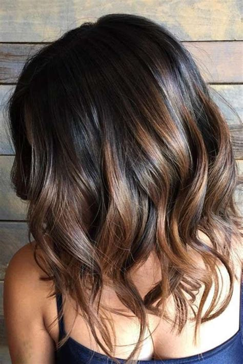 trendy to elegant black hair with caramel highlights trendy hair highlights top brown to caramel colors of