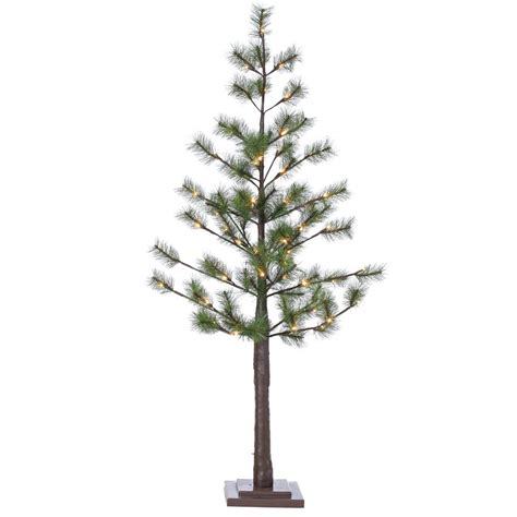 sterling 5 ft indoor pre lit led pine needle artificial