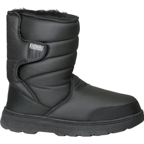 khombu mens boots khombu traveler 2 insulated boots s glenn