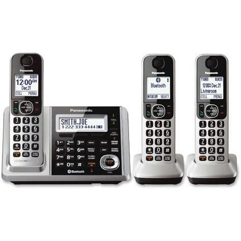 Panasonic Cordless Phone Kx Tge274 Silver panasonic link2cell kx tgf373s bluetooth cordless phone silver
