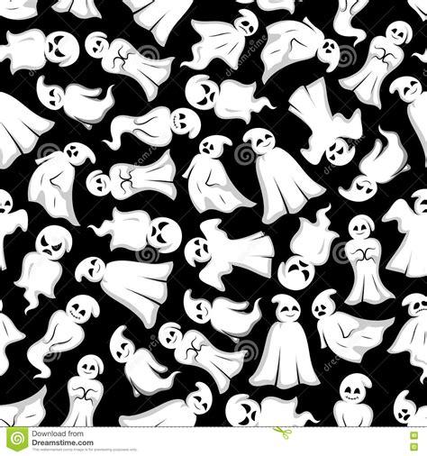 wallpaper cartoon ghost halloween background with cartoon ghosts stock vector