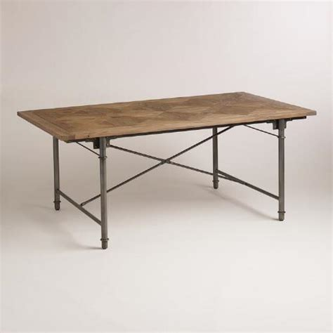 chevron parquet dining table world market