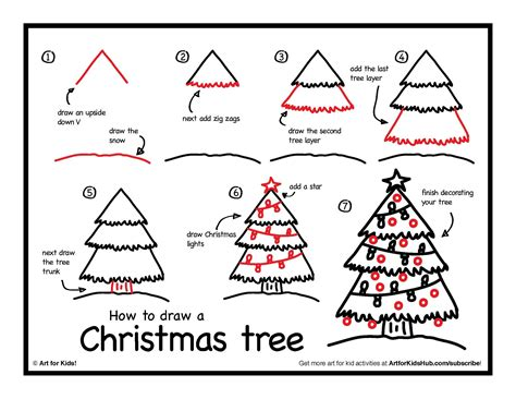 christmas pictures step by step how to draw a tree for hub tree drawings and doodles