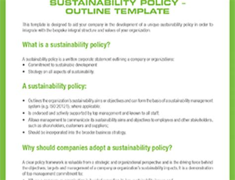 Sustainability Policy Template 20 things you need to about gri g4 clt envirolaw