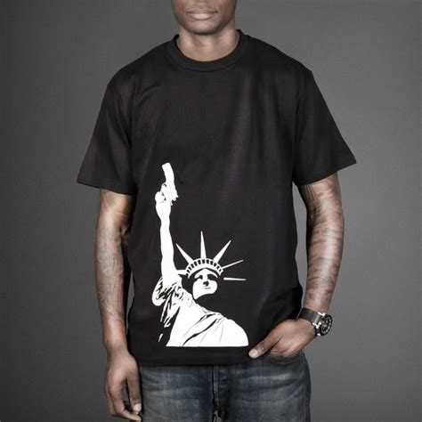 t shirt liberty gun the game t shirt wehustle menswear