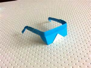 How To Make Paper Glasses For - origami sunglasses paper sunglasses easy hd